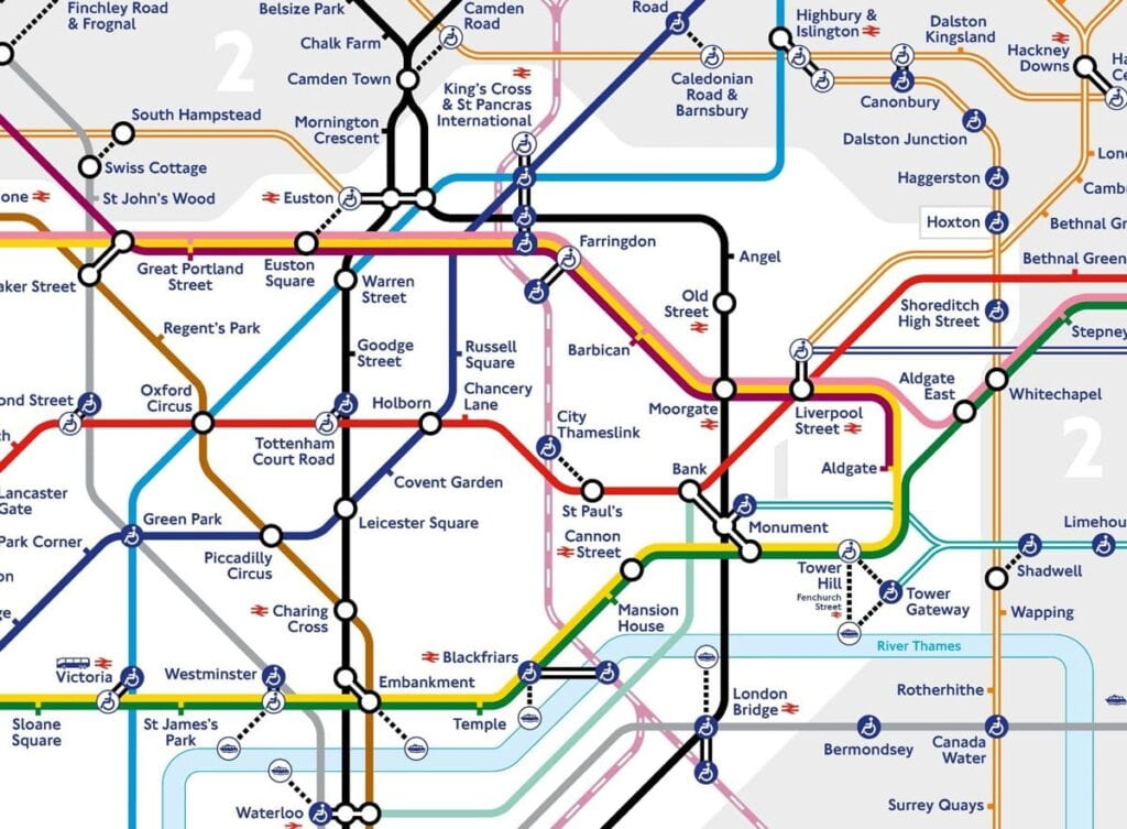 Thameslink map